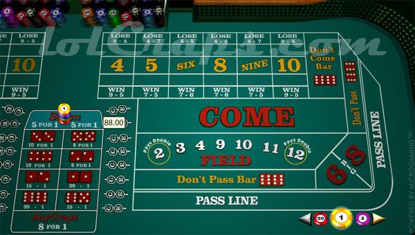 any seven craps bet