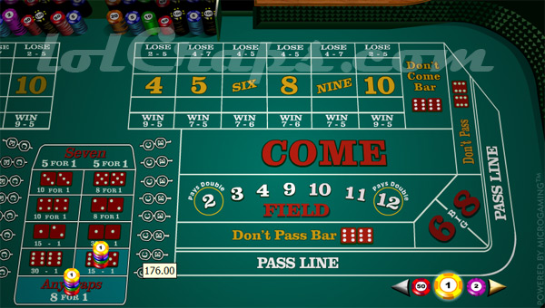Horn bet craps table