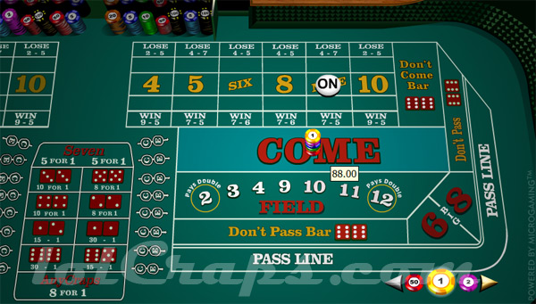 Craps odds on place bets