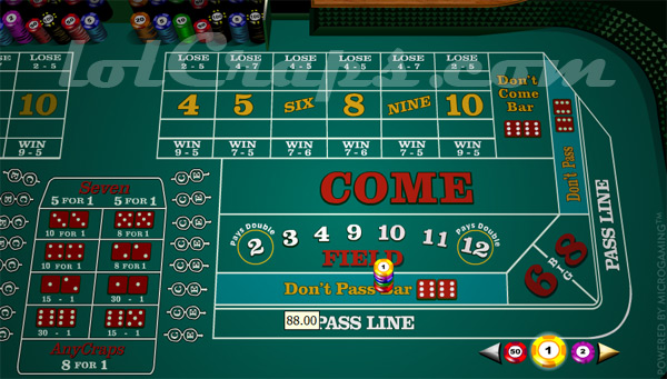 500 to 1 odds payout in craps when do u