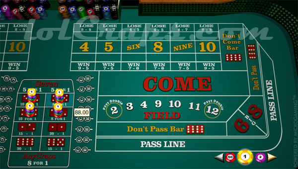 How craps bets work