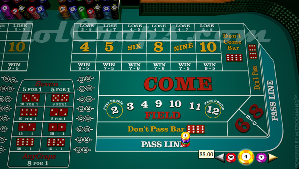 Craps odds calculation