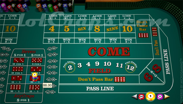 betting on 7 in craps what is snake