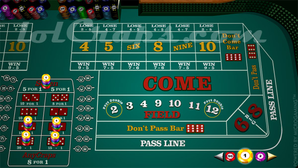The Whirl and World craps bet