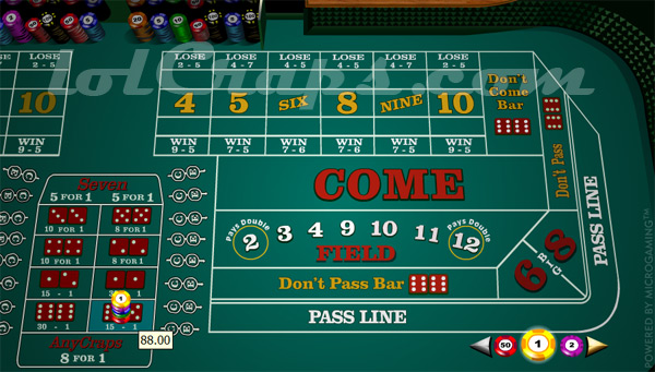 3 to 1 odds payouts in craps what does yo